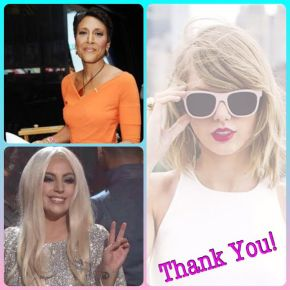 When Celebrities Do Good: Thank You, Taylor Swift, Lady Gaga, and Robin Roberts!